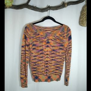 SPARROW ANTHRO multi color knit sweater